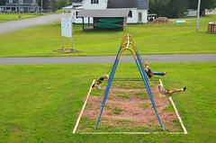 Sue & The Kids On The Swings (Joe Shlabotnik) Tags: swings sue 2018 august2018 violet aroostook everett vanburen maine playground proudparents afsdxvrzoomnikkor18105mmf3556ged