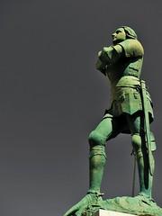 Jeanne d'Arc (doumé piazzolli) Tags: historique jeannedarc aveyron france languedoc sainteeulaliedolt fz200 voyagedécouverte patrimoine lumix panasonic plusbeauxvillagesdefrance lot architecture statue vert bronze
