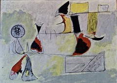 Garden of wish fulfilment (1944) - Arshile Gorki (1904-1948) (pedrosimoes7) Tags: arshilegorki caloustegulbenkianfoundationmuseum lisbon portugal surreal surrealism abstract abstracto artgalleryandmuseums shockofthenew ✩ecoledesbeauxarts✩