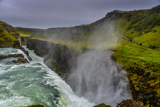 Gullfoss Waterfalls (Golden Waterfalls) - along the Golden Circle - Gullfossi Iceland