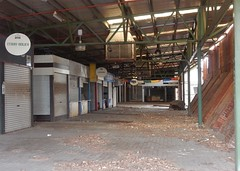 Market Memories (mikecogh) Tags: thebarton thebrickworks closed market lane stalls empty