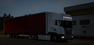 New Scania R450 w/ Krone Mega for Arkadia Transport [ETS2]