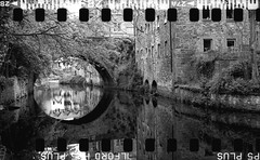 Bronica SQ-A-050-016 (michal kusz) Tags: 135 35mm medium format bronica sqa 80mm zenzanon conventer 120to135 bw blackandwhite frame film analogue hp5 ilford ilfosol 3 epson v600 portrait panoramic bridge reflection edinburgh dean village scotland