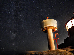 A beacon and the universe (Photobooth nr.747) Tags: beacon nightshots sky norway nighttime stars