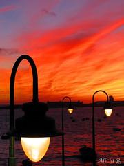 Arde el cielo- #InspiraciónBdF76 (Alicia B,) Tags: cadiz spain españa atardecer sunset europa europe nubes cielo heaven cloud