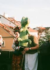 Czech Girl, puppet festival in Prague (zuziawie) Tags: minolta himatic g 35mm 35 analog analogue praha prague praga city europe sunshine girl people portrait fuji