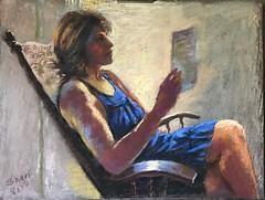 Self portrait, pastels (sharivahidi) Tags: figure painting pastels
