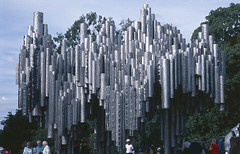 Monument to Jean Sibelius, (Country Girl 76) Tags: monument jean sibelius eila hiltunen 600 steel pipes wave formation music helsinki finland park trees people