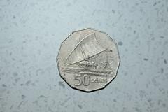 1975 Fiji 50 cents coin