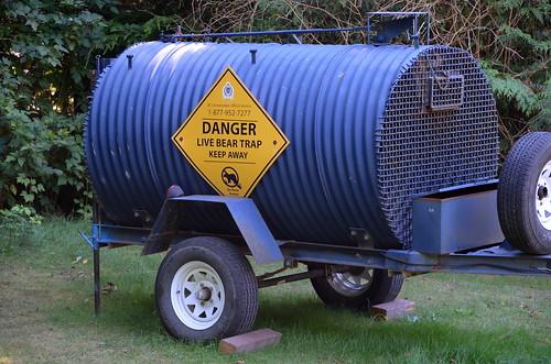 Danger: Live Bear Trap