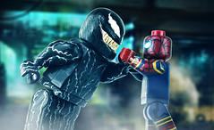 LEGO VENOM vs. Iron Spider #4 (MGF Customs/Reviews) Tags: lego venom tom hardy spiderman holland marvel studios sony custom figure minifigure