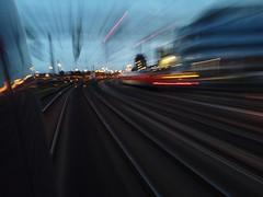 🚂Guten Morgen- Morning👮 (gatierf) Tags: zugfahrt abstract abstrakt morgenstimmung gleise schienen zug hesse hessen