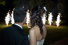 Newlyweds looking fireworks (breenafireworkseventi) Tags: wedding dress woman beautiful beauty bride bridal fireworks young female girl happy white celebration love romantic marriage moon gown man couple person style attractive fashion male happiness elegance romance celebrate groom newlywed night italy