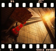 CLCN#037 with 夕陽 Yuuhi / Sunset (三dBoz) Tags: フィルムカメラ analog film reversal colorconecollection backlit signbord sunset colorcone japaneselandscape ektachromee100g klassew stonepath フィルム アナログ