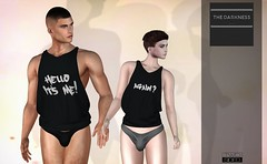 Darkness Event is open - round August 2018. (TwoSided store & Sunny's Boutique) Tags: twosided darkness event loose tank men femboy femboi flatchest vtech simplestuff slink petite mesh fashion secondlife sl blog ad