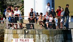 Belle-Île-en-Mer: watching the ferry come in (Henk Binnendijk) Tags: lepalais harbour haven port bretagne brittany breizh morbihan france frankrijk people belleîleenmer belleîle island insel eiland île