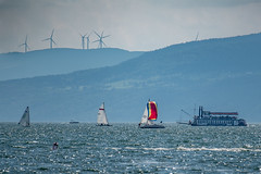 Lake Traffic (jpetcoff) Tags: lake canandaigua water sail sailboat boat upstate ny new york finger lakes rochester wind rotors lady