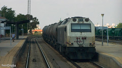 Has sido rápido (FerrOnuba) Tags: tren renfe ferrocarril ferrocarriles prima 333397 extremadura mercancias biodiesel mercante adblue fotografia locomotora locomotoras huelva cargas salida 333 zafra maquinista