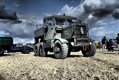 1951 Scammell Explorer. (ManOfYorkshire) Tags: dorsetsteamfair 2018 1951 scammell explorer triaxle lorry truck army green 12litre 12l 12170cc diesel engine stance mighty purposeful