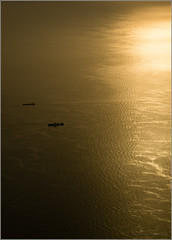 Ships that pass in the morning (mikeyp2000) Tags: sun ship sunrise sunset ships boat aerial boats ocean sea