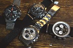 chronograph_DSC_7231 (ducktail964) Tags: sinn 156b tudor 79160 omega speedster breitling navitimer chronograph taiwan