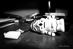 Stormtrooper down! :-) (Mario Pellerito) Tags: canon ixus 255hs art blackandwhite bn italia italie italy light luce mario mistero monocromo pov starwars stormtrooper