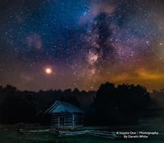 Crib_Under Mars- (Inspire One Photography by Darwin White) Tags: milkyway stars nightscene nightphotography historical greatsmokymountainsnationalpark cadescove darwinwhitephotography