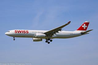 HB-JHI - 2010 build Airbus A330-343E, inbound to Zurich