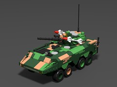 Chinese zbl-09 APC(showcase)3 (demitriusgaouette9991) Tags: lego military army ldd armored apc powerful chinese transport deadly