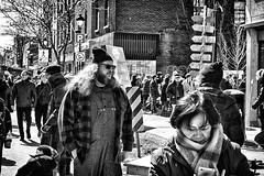 Winter Crowd (stephaneblaisphoto) Tags: bw blackandwhite monochrome street city urban people crowd winter montreal canada