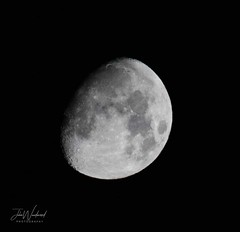 Waxing Gibbous Moon  85% Illuminated (John Woodward Photography) Tags: moon waxing gibbous moonwaxinggibbous nature night nightsky natureatitsbest mothernature canon canondslr canoneos canonllenses canon5dmarkiv llenses lunar lunartics