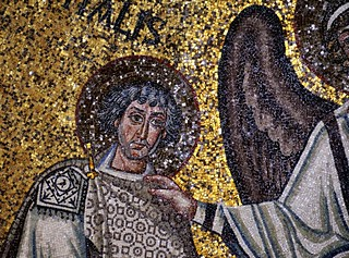 Mosaic close-up - apsidal arch, Basilica di San Vitale, 547 CE, Ravenna, Italy ..