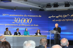 Bishop Jacques Gaillot making remarks at the Iranian Communities' global conference marking the 30th anniversary of the massacre of 30,000 political prisoners (maryamrajavi) Tags: maryamrajavi 1988massacre conference britain thenetherlands sweden norway denmark finland switzerland italy austria iran iranianresistance people'smojahedinorganization pmoi massoud مریم رجوی قتل‌عام زندانی سیاسی فرانسه مسعود اعدام ۶۷ خاوران مردم ایران رژیم