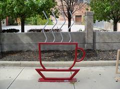 OH Toledo - Bike Rack 19 (scottamus) Tags: toledo ohio lucascounty bike bicycle rack stand sculpture art coffee cup