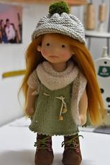 "ADONIA 13"" waldorf doll (Dearlittledoll) Tags: waldorf waldorfdoll wool artdoll knitting kinderpuppe kompletetutorial makingdoll handmade babydoll brownshoes overalls naturalfiberdoll"