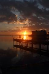 SUNRISE (R. D. SMITH) Tags: sunrise floeida water river canoneos7d indianriver sun reflection morning dawn orange melbourneflorida brevardcountyflorida
