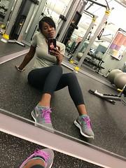 Selfie Love #lenliving (HelenHubbard) Tags: chocolate helenwhite bodygoals beautifulwoman selfie nike woman women gym lenliving workout blackbeauty helenhubbard