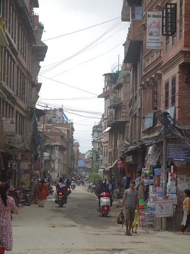 Une des rues de la ville de Patan