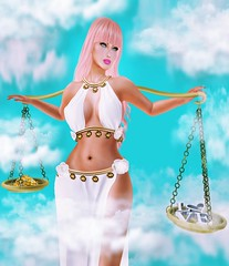 ZODIAC ~ Libra ~ (Jaina(YeannaS)) Tags: secondlife horoscope libra scales balance zodiac charming clouds