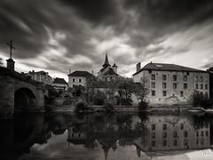 La celle dunoise (flo73400) Tags: village church longexposure le poselongue landscape paysage pont bridge nb bw
