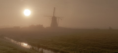 And where is Don Quixote? (Wöwwesch) Tags: windmill mist fog foggy dutch morning sunrise autumn