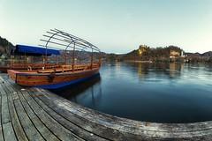 0834 A New Day Has Come III (Hrvoje Simich - gaZZda) Tags: landscape outdoors noperson sky water lake pond reflections boat pier wood morning blue travel slovenia europe bled nikon nikond750 samyang1228 gazzda hrvojesimich