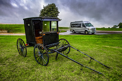 Dichotomy   -4599-08-18- (zayaspointofviewphotography1) Tags: dichotomy carriage stcharles minnesota d850 nikon airstream mercedes interstatelounge buggy amish