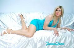 Turquoise Temptress (jessicajane9) Tags: tg crossdress transvestite cd xdress tranny crossdressing tv feminization transgender m2f tgurl crossdresser feminised trans satin tgirl