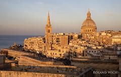 Valletta (Rolandito.) Tags: malta la valletta sunset dome cathedral basilica our lady mount carmel karmelitenkirche