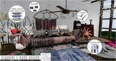 INFINITE - Claudine's Boho Heaven @ N21! (Divine Falodir (Infinite)) Tags: bohemian second life furniture modern mesh decor contemporary rustic fabric gypsy mystical magical fabulous infinite