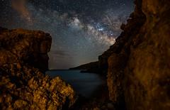 Milky Way Rocks (free3yourmind) Tags: milky way rocks sea night sky stars cave kythera kythira island greece greek nikond750 starry