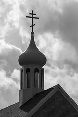 I Lift Your Name On High (K.M. Smith Photography) Tags: cross church catholicchurch clouds sky christianity building ohio ottawacounty marblehead kmsmith canon blackandwhite monochrome