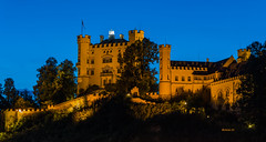 Castle Hohenschwangau (achim-51) Tags: schloss castle hohenschwangau füssen allgäu bayern gebäude himmel blau blauestunde schlosshohenschwangau