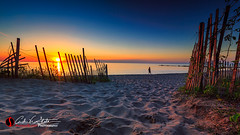 Sand Access (andrewslaterphoto) Tags: andrewslaterphotography atwaterbeach beach greatlakes lakemichgan milwaukee sand sunrise mke mkemycity canon 5dmarkiii access dawn fence shorewood travelwisconsin discoverwisconsin morning nature outdoors water